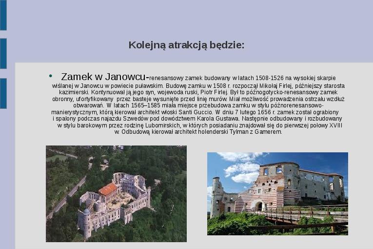 Zabytki i atrakcje Lubelszczyzny - Slajd 6