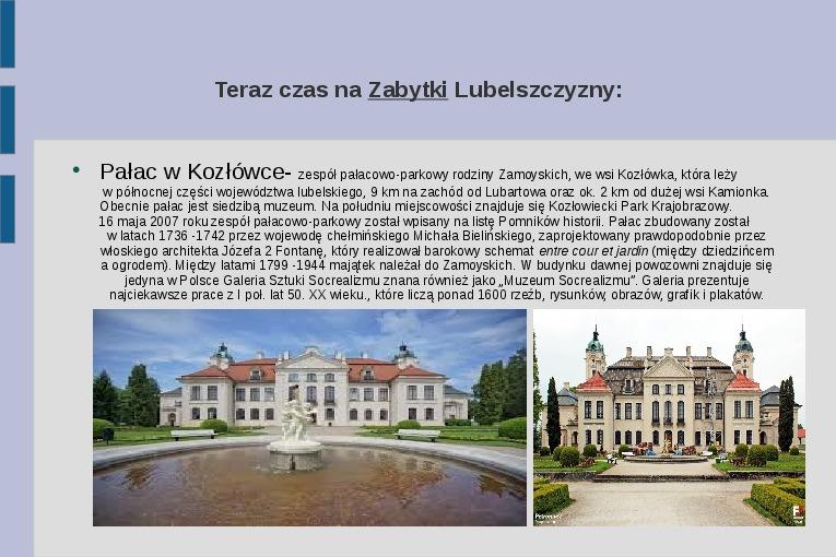 Zabytki i atrakcje Lubelszczyzny - Slajd 7