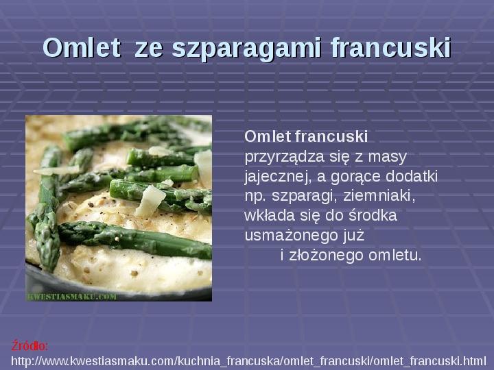 Prezentacja Kuchnia Francuska Swiat Prezentacji