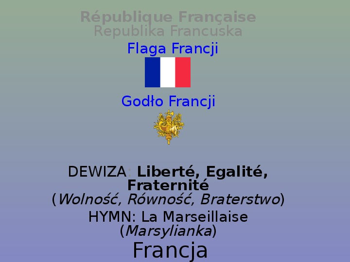 Francja - Slajd 1