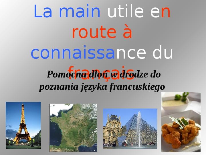 Odmiana czasowników - język francuski - Slajd 1