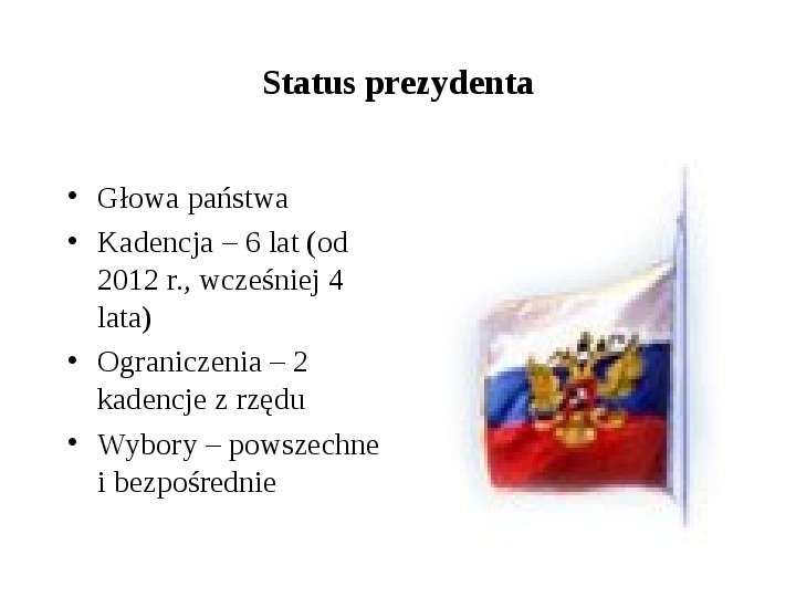 Ustrój polityczny Federacji Rosyjskiej - Slajd 13