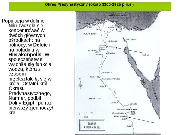 Powstanie i funkcjonowanie państwa w Starożytnym Egipcie - Slajd 3