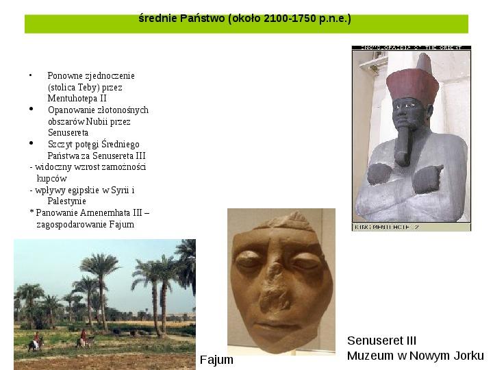 Powstanie i funkcjonowanie państwa w Starożytnym Egipcie - Slajd 10