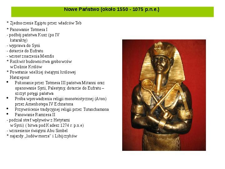 Powstanie i funkcjonowanie państwa w Starożytnym Egipcie - Slajd 12