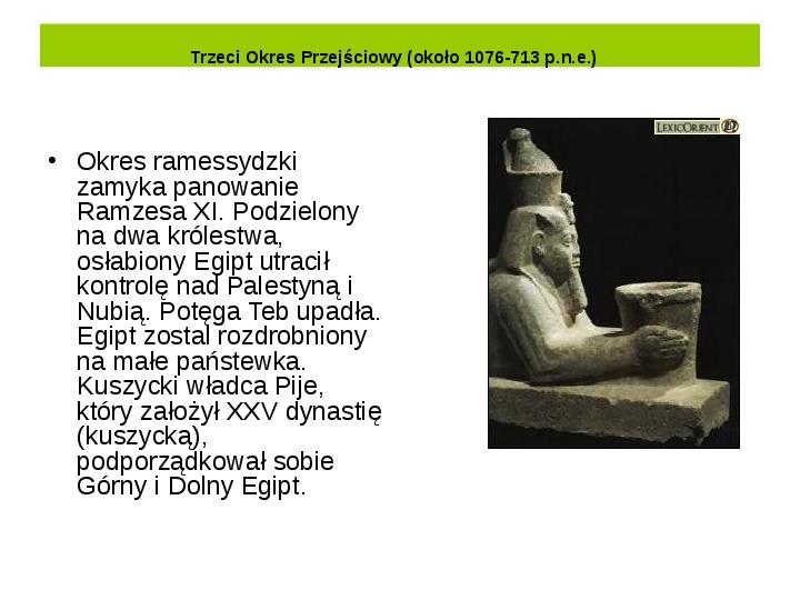 Powstanie i funkcjonowanie państwa w Starożytnym Egipcie - Slajd 21