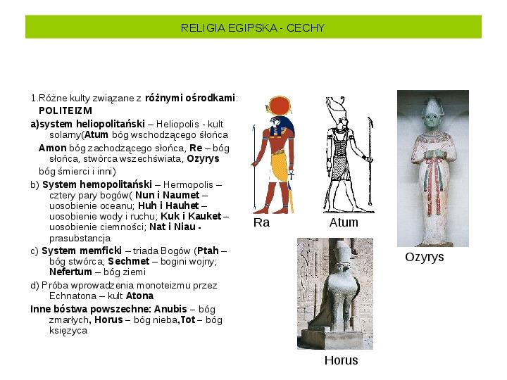 Powstanie i funkcjonowanie państwa w Starożytnym Egipcie - Slajd 24