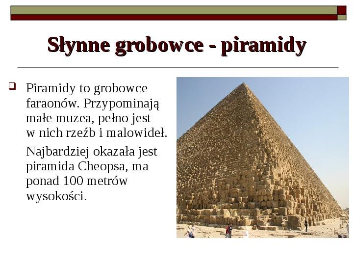 Starożytny Egipt - Slajd 5