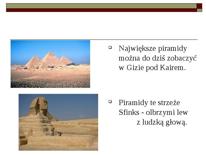 Starożytny Egipt - Slajd 6