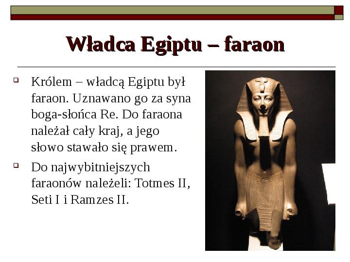 Starożytny Egipt - Slajd 7