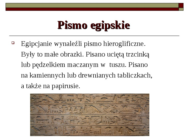 Starożytny Egipt - Slajd 10