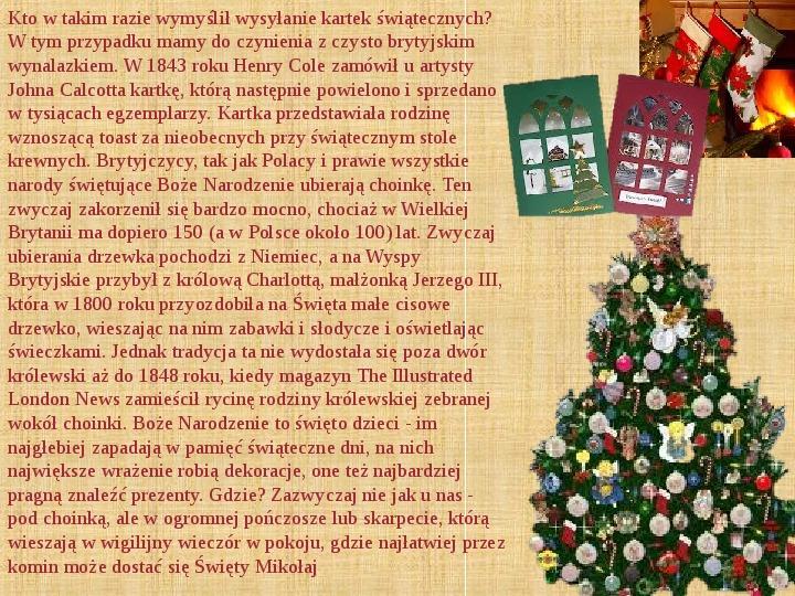 Boże Narodzenie w Wielkiej Brytanii - Slajd 2