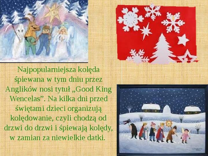 Boże Narodzenie w Wielkiej Brytanii - Slajd 5