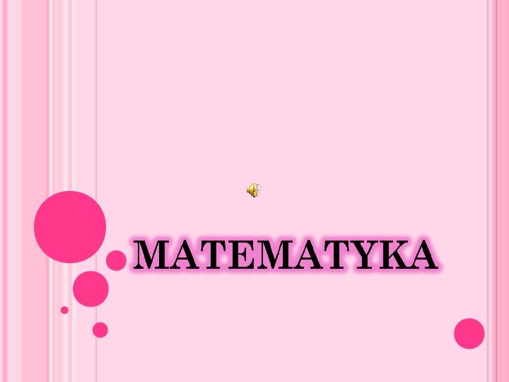 Matematyka - Slajd 1