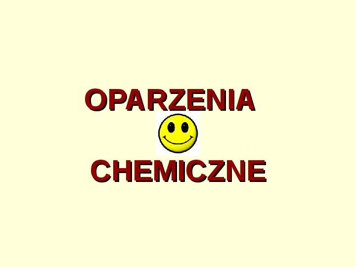 Oparzenia chemiczne - Slajd 1