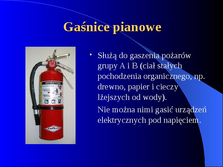 Podręczny sprzęt gaśniczy - Slajd 1