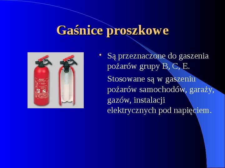Podręczny sprzęt gaśniczy - Slajd 3