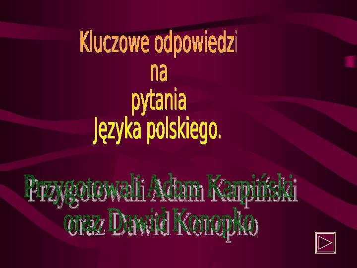 Gramatyka Język Polski - Slajd 1