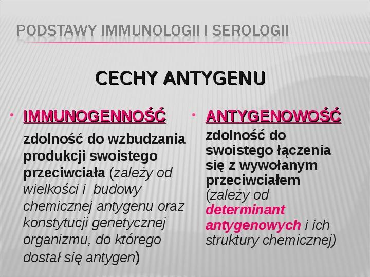 Podstawy immunologii i serologii - Slajd 3