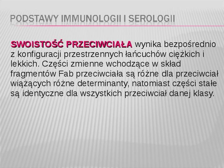 Podstawy immunologii i serologii - Slajd 11