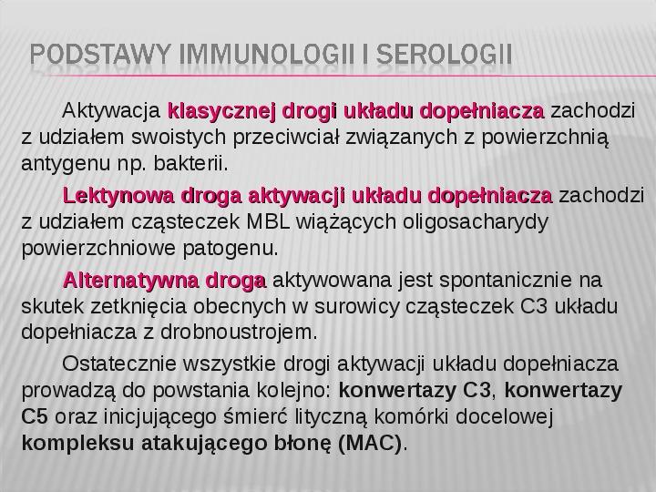 Podstawy immunologii i serologii - Slajd 17