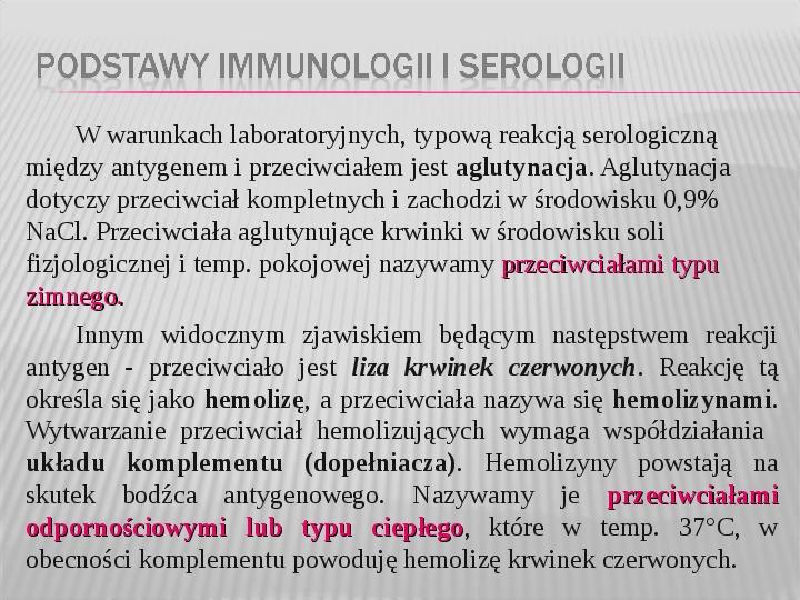 Podstawy immunologii i serologii - Slajd 25