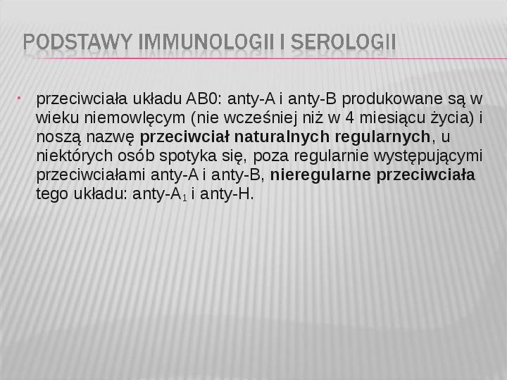 Podstawy immunologii i serologii - Slajd 31
