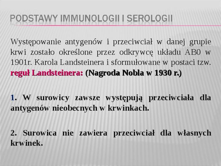 Podstawy immunologii i serologii - Slajd 33