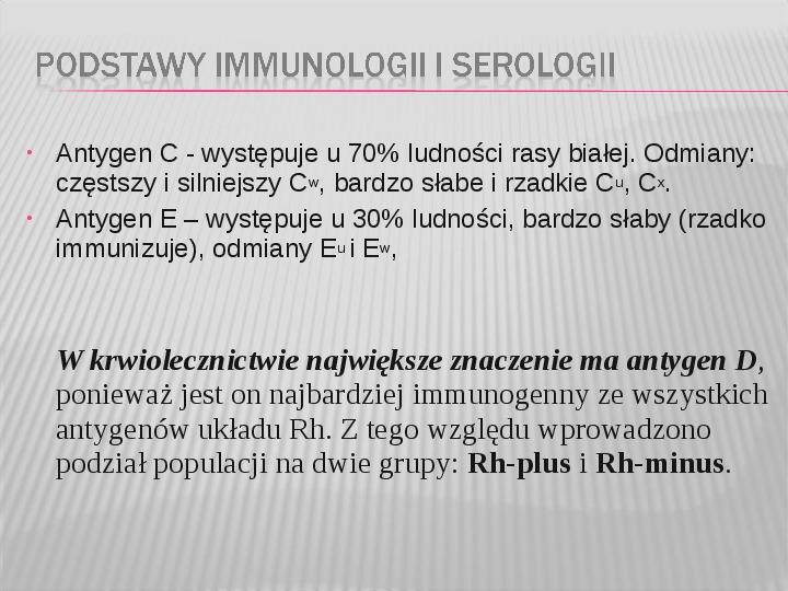 Podstawy immunologii i serologii - Slajd 36