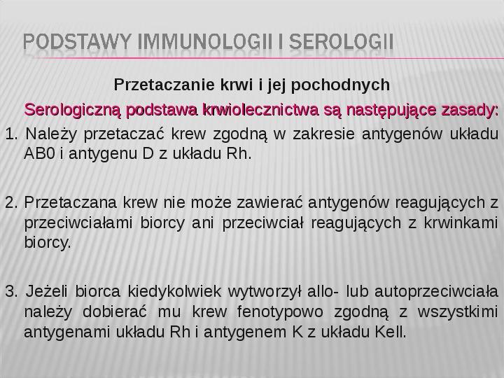 Podstawy immunologii i serologii - Slajd 39