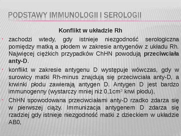 Podstawy immunologii i serologii - Slajd 42