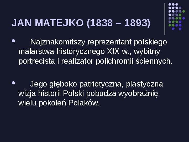 Historia Polski w malarstwie - Slajd 2