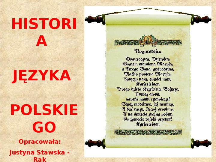 Historia Języka Polskiego - Slajd 1