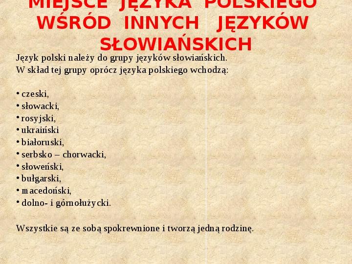 Historia Języka Polskiego - Slajd 5