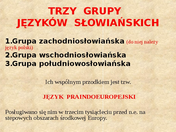 Historia Języka Polskiego - Slajd 6