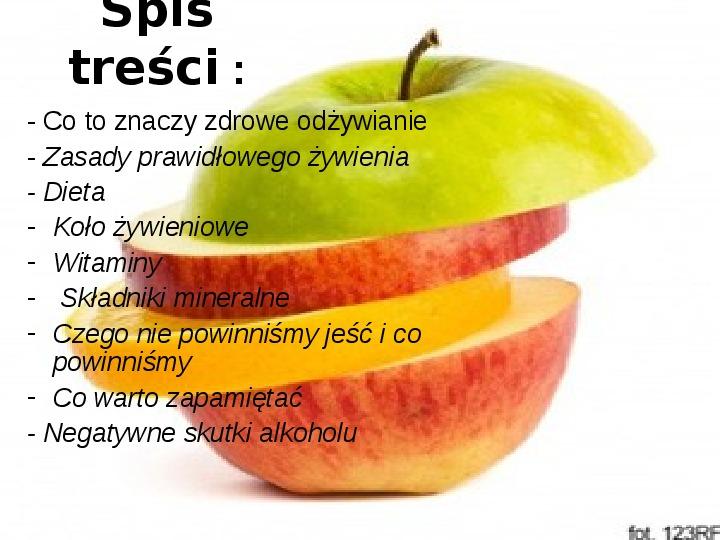 Zasady zdrowego odżywiania - Slajd 1