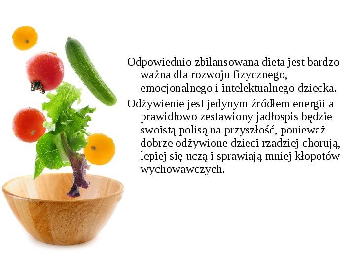 Zdrowe odżywianie w rodzinie - Slajd 14