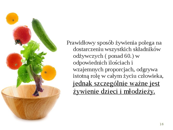 Zdrowe odżywianie w rodzinie - Slajd 15