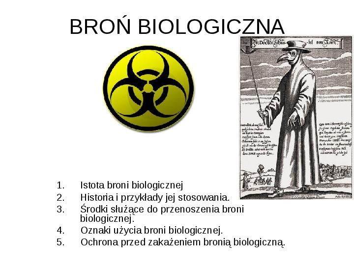 Broń biologiczna - Slajd 1
