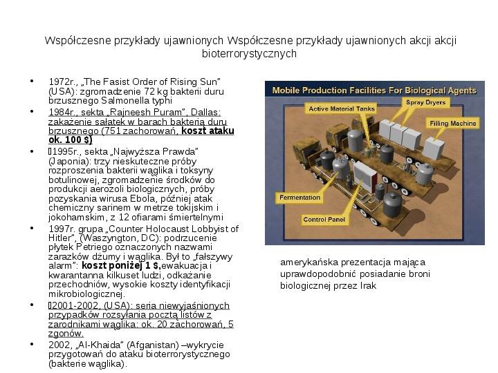 Broń biologiczna - Slajd 5
