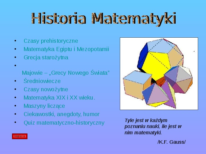 Historia matematyki - Slajd 1