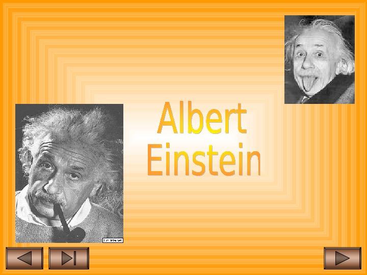 Albert Einstein - Slajd 1