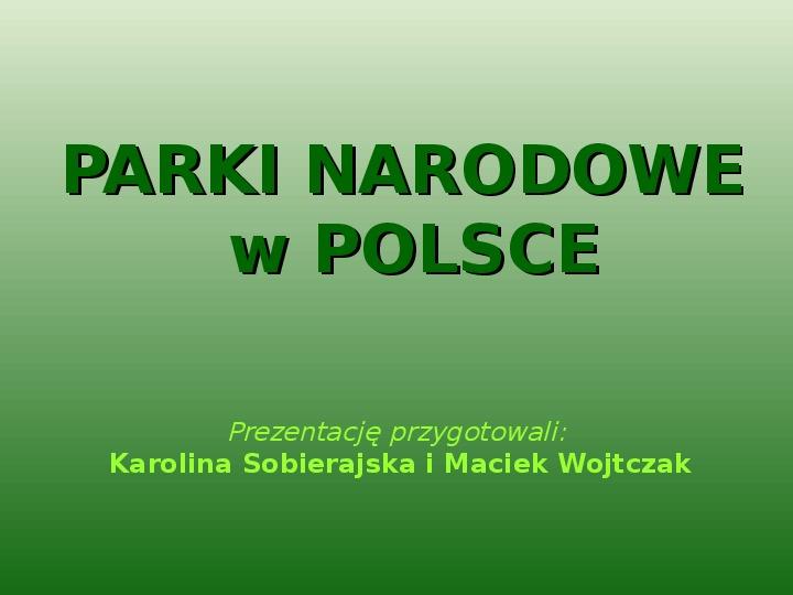 Parki narodowe w Polsce - Slajd 0