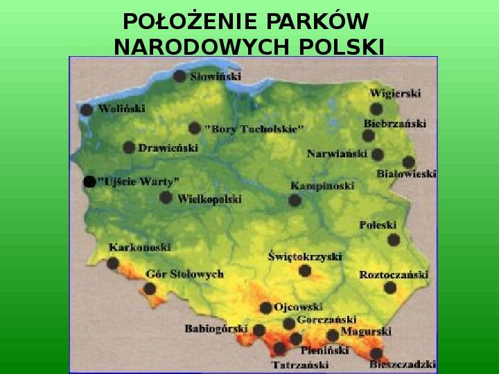 Parki narodowe w Polsce - Slajd 2