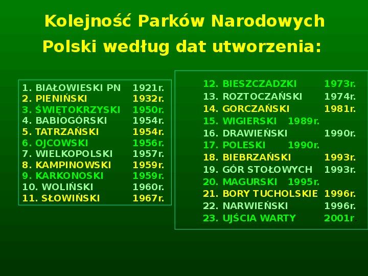 Parki narodowe w Polsce - Slajd 3