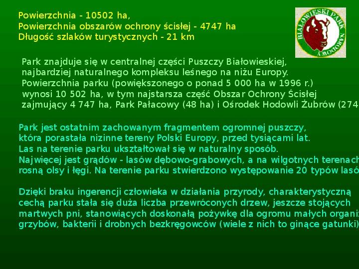 Parki narodowe w Polsce - Slajd 5