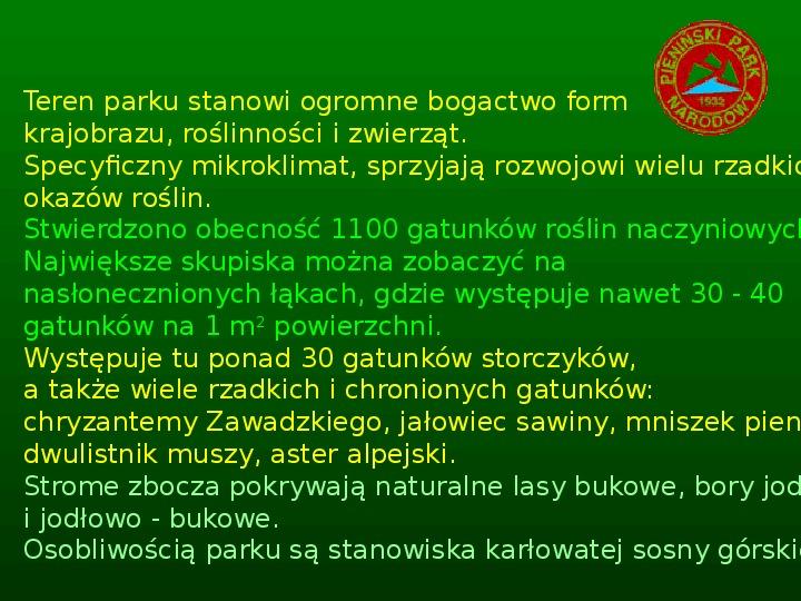 Parki narodowe w Polsce - Slajd 9