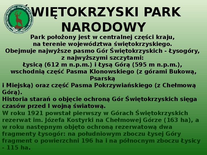 Parki narodowe w Polsce - Slajd 10