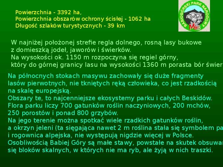 Parki narodowe w Polsce - Slajd 14