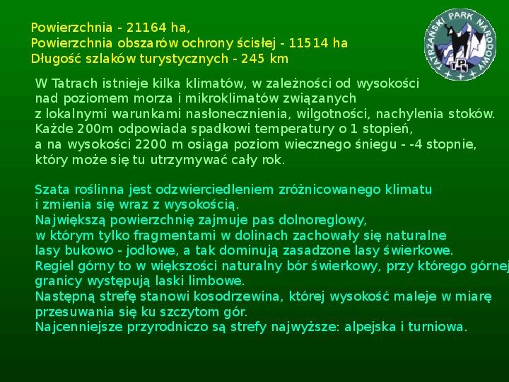Parki narodowe w Polsce - Slajd 16
